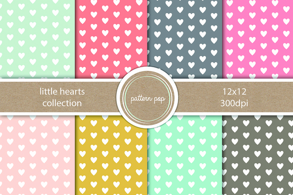 Seamless Little Heart Pattern Pack