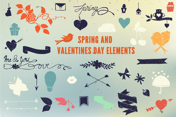 Spring And Love Elements