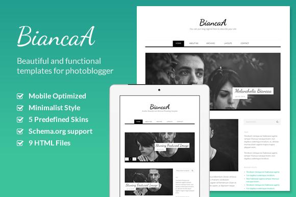 BiancaA Responsive Photoblog HTML