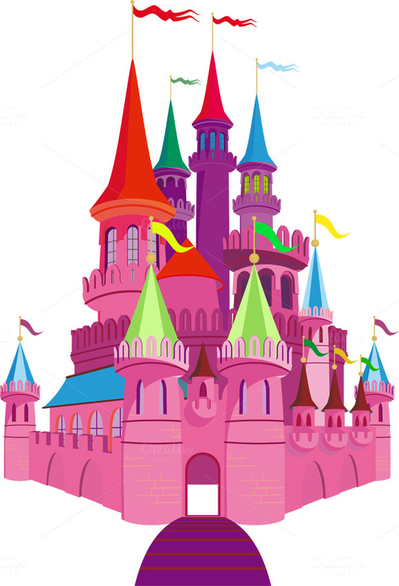 Pink Fairy-tale Princess Castle