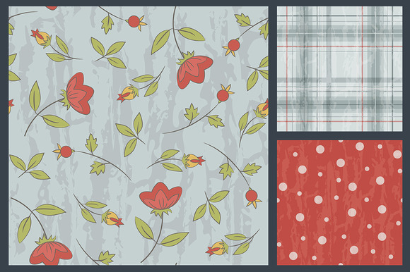 3 Retro Seamless Patterns