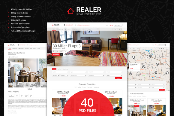 Realer Real Estate PSD Template