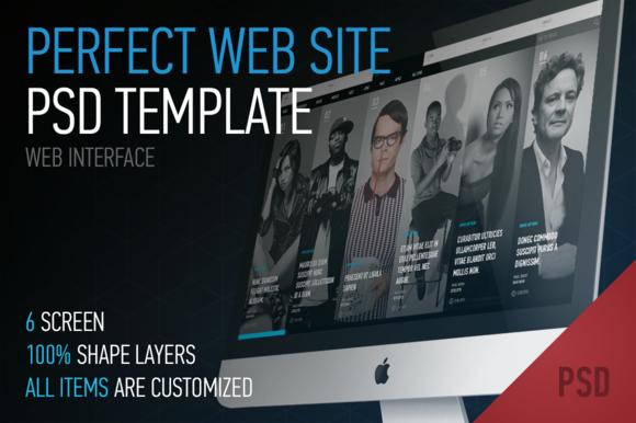 Modern Web Site PSD Template