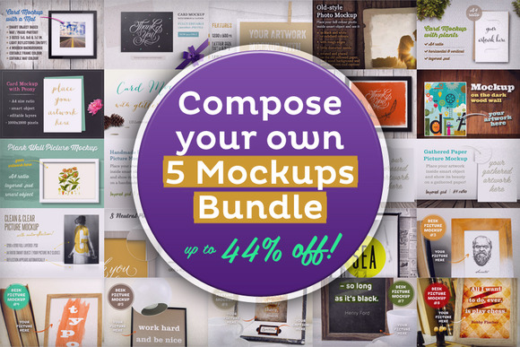 Compose Your 5 Mockups Bundle