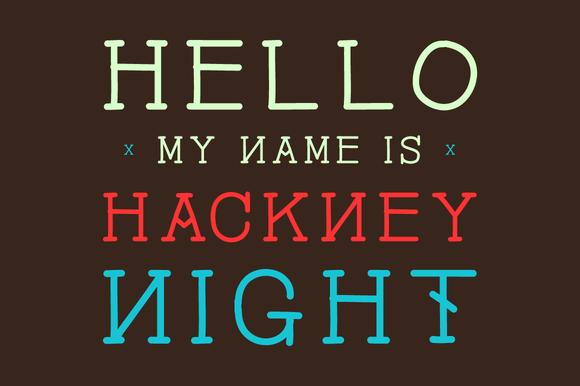 Hackney Night Font