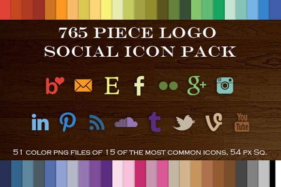 765 Piece Logo Social Icon Pack