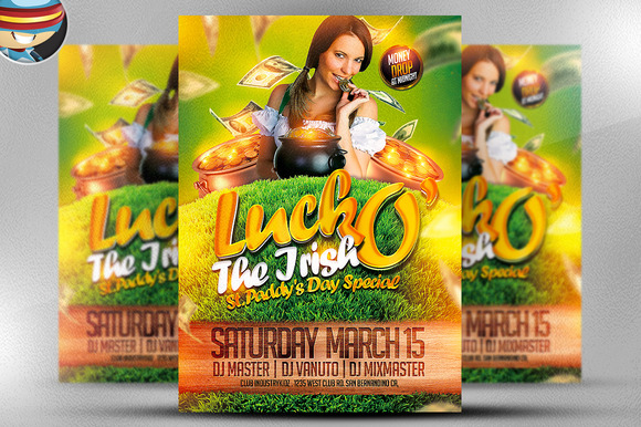 Luck O The Irish Flyer Template