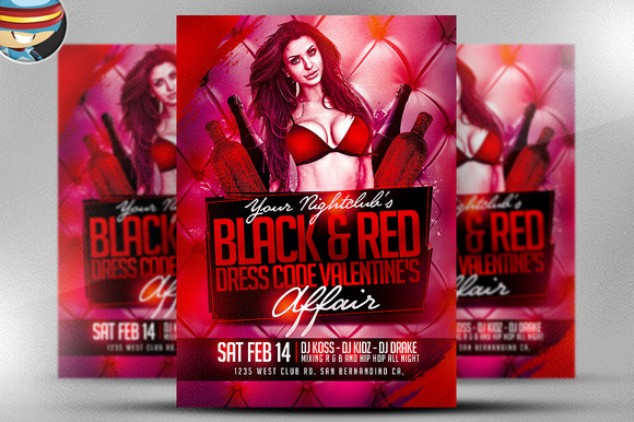 Valentine S Day Black Red Flyer