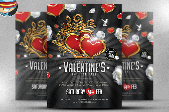 Valentine S Ball Flyer Template 2