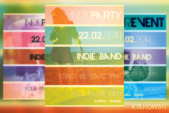 Indie Party Flyer