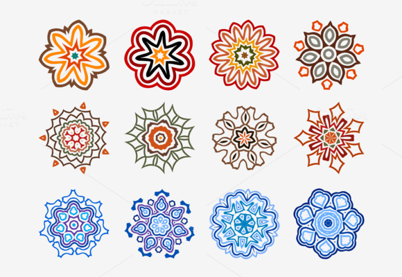 Big Set Of Colorful Design Icons