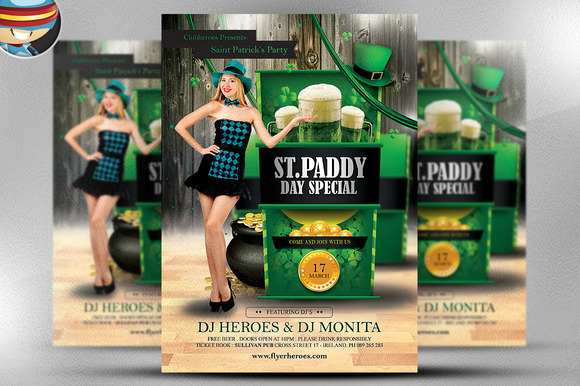 Saint Paddy S Day Special Flyer