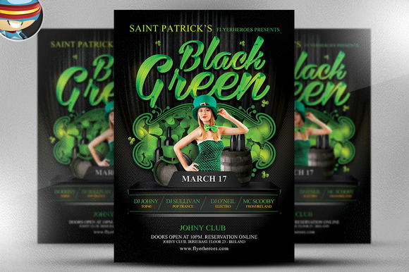 St Paddy S Day Black Green Flyer