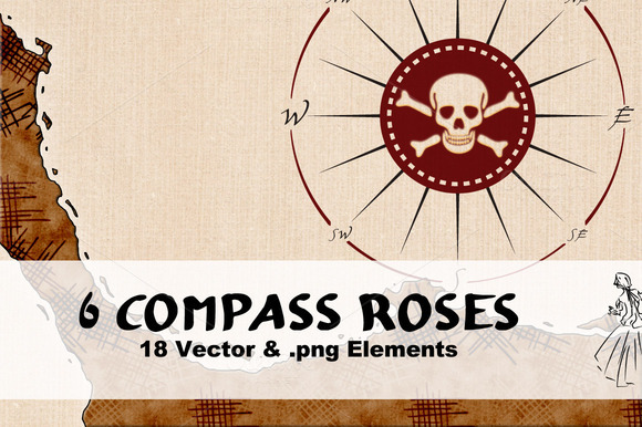 6 Compass Roses