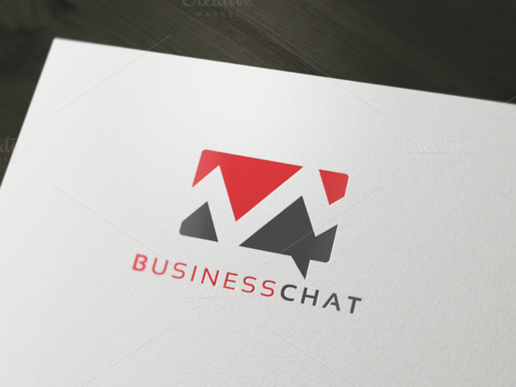 Business Chat Logo Template