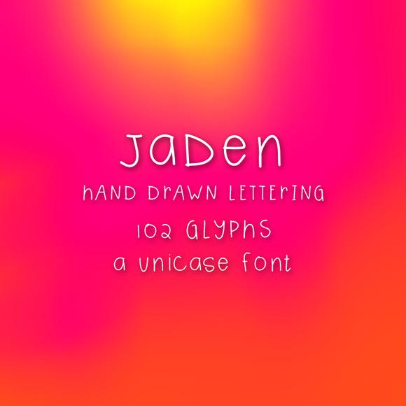 Jaden Hand Drawn Font