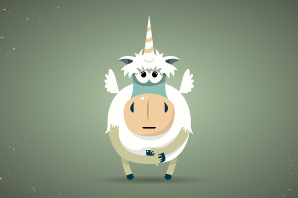 Magic Little Unicorn With A Horn