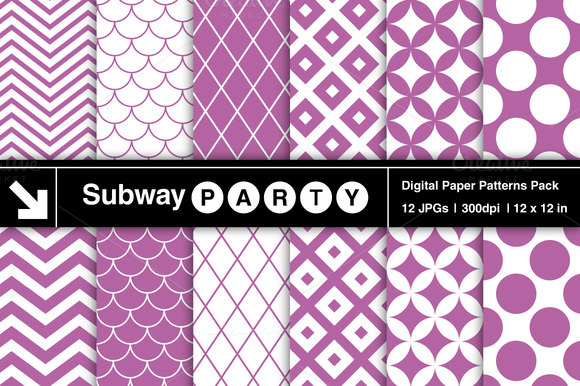 Purple Retro Geometric Patterns