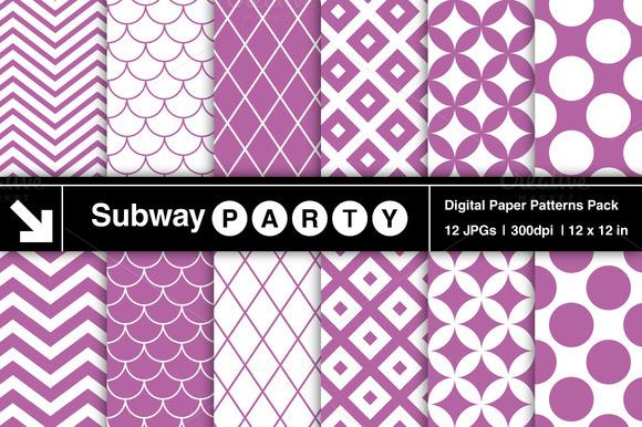 Purple Retro Geometric Patterns