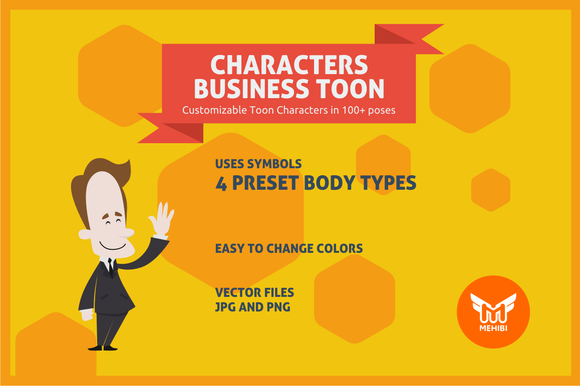 Business Male Toon Character