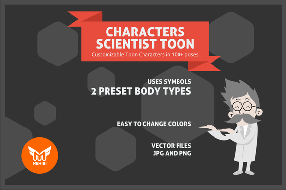 Scientist Toon Character