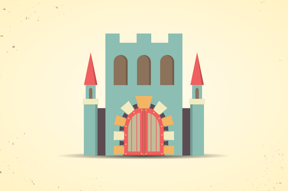 Color Flat Castle Icon