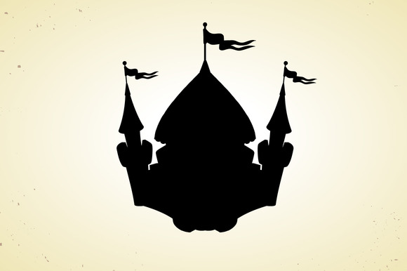Silhouette Of Cartoon Castle