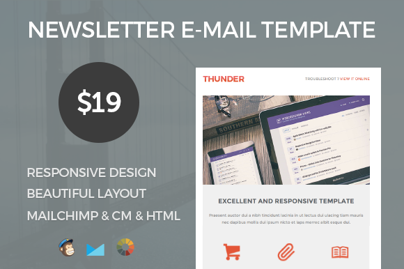 Thunder Responsive E-mail Template
