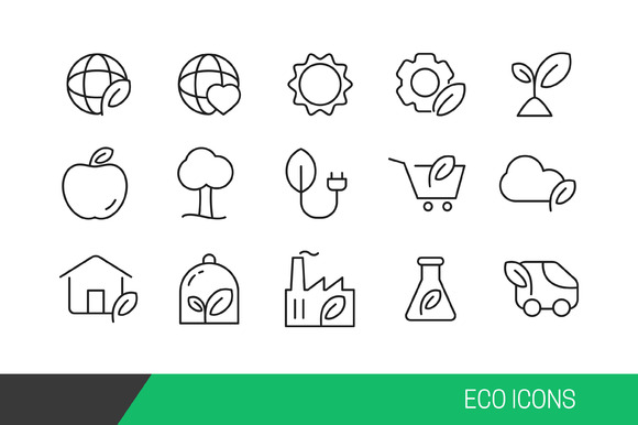 Eco Vector Line Icons