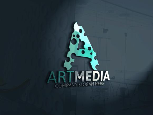 Art Media A Letter Logo