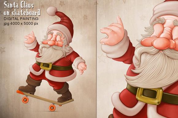 Photoshop Skateboard Mockup 187 Designtube Creative Design Click Santa Claus Skateboard