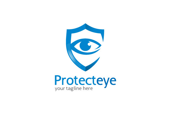 Protect Eye Logo Template