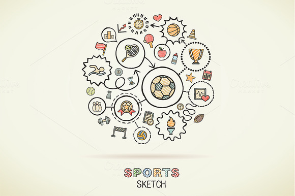 Sport Hand Draw Sketch Icons