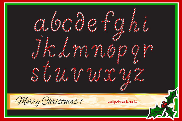 Christmas Candy Alphabet