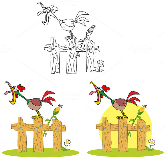 Rooster Character Collection Set