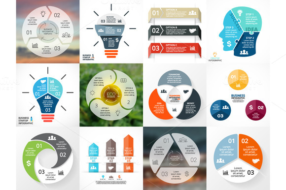 Different Infographics Set