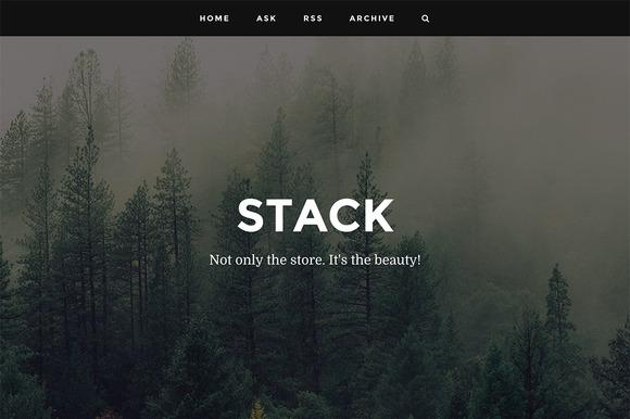 Stack Responsive Tumblr Theme