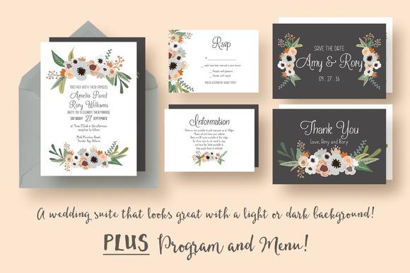 Modern Floral Wedding Suite