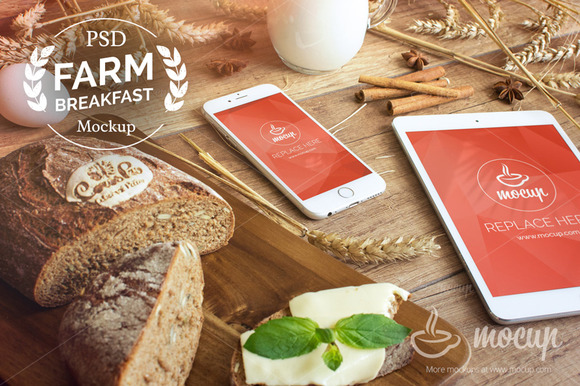 Farm Breakfast IPad IPhone 6 Mocku