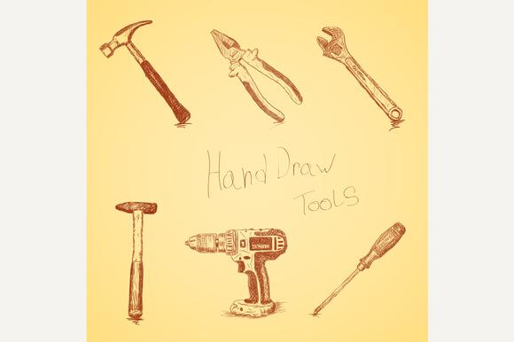 Hand-draw Tools Set