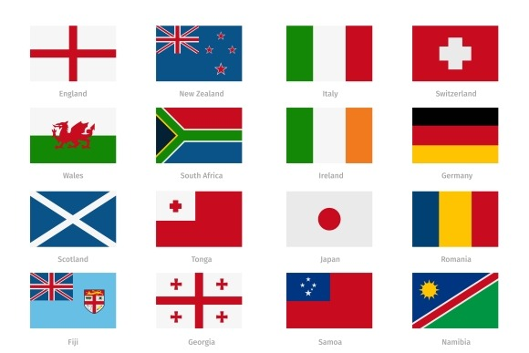 Flags In Flat Style
