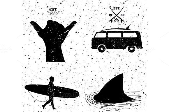 Surfing Designs Grunge Style