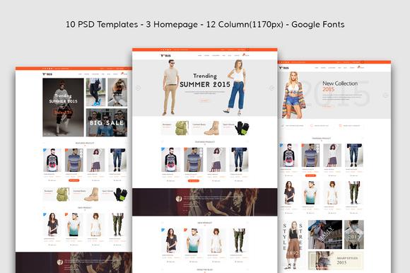 Yaris-eCommerce PSD Template