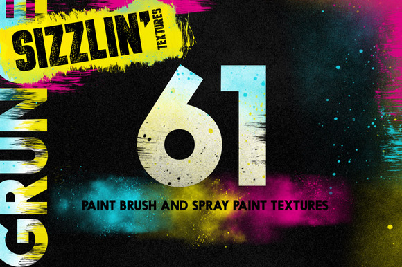 Paint It Brush And Spray Textures