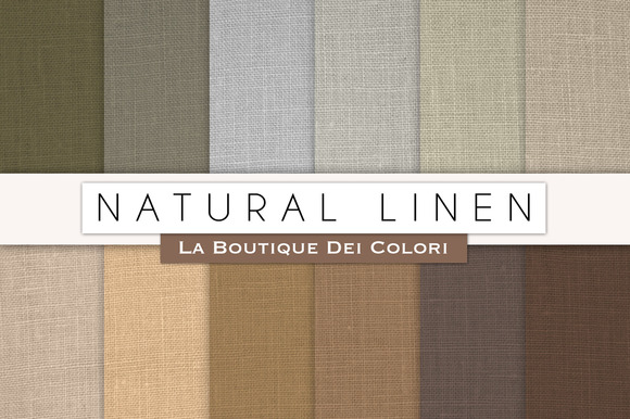 Natural Linen Digital Papers