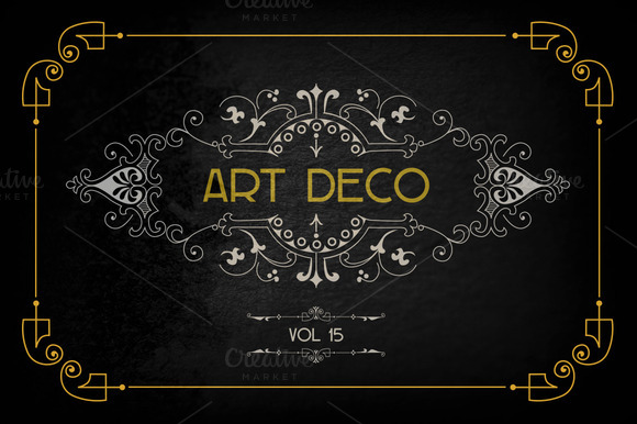 Art Deco Graphic Design Elements Designtube Creative Design