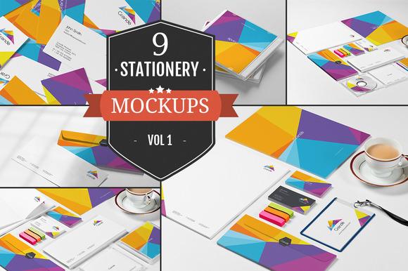 Branding Stationery Mockups Vol 1
