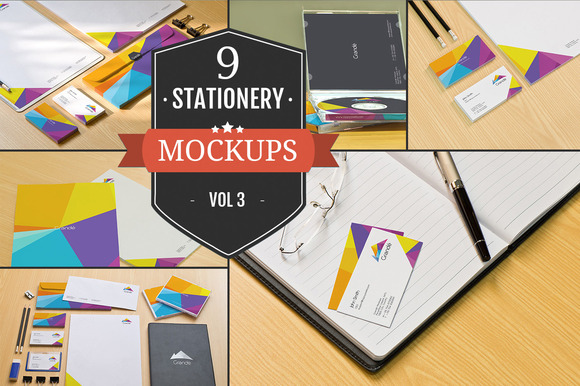 Branding Stationery Mockups Vol 3