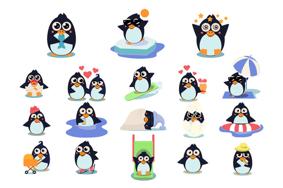 Penguins In Different Situations