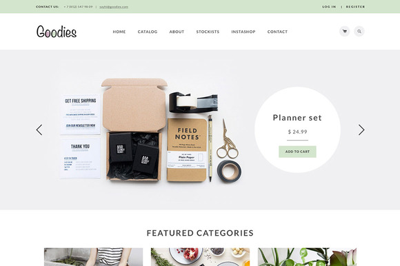 Goodies Elegant Shop Template